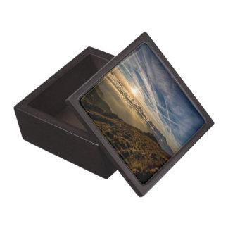 Sunrise Over the Foggy Mountain Tops Giftbox Keepsake Box