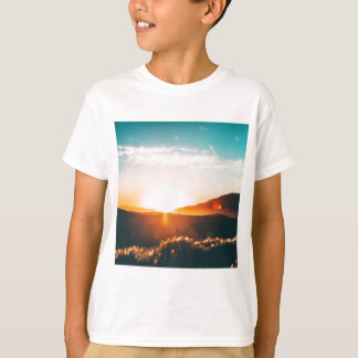 Sunrise over the hill in nature T-Shirt