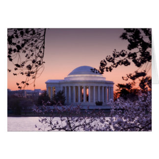 Sunrise over the Jefferson Memorial in DC Cards
