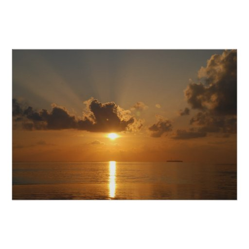 Sunrise over the Lagoon Print