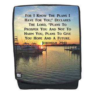 SUNRISE OVER THE LAKE JEREMIAH 29:11 BACKPACK