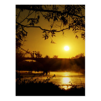 Sunrise over the Maumee river Postcard