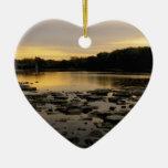 Sunrise over the Maumme river Ornaments