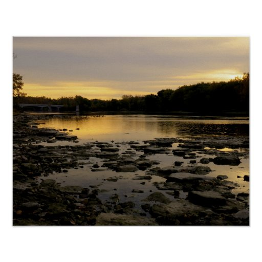 Sunrise over the Maumme river Print