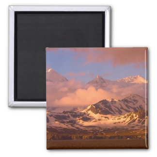Sunrise over the mountain ranges on South 2 Inch Square Magnet