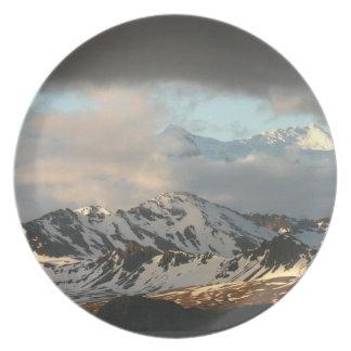 Sunrise over the mountain ranges on South 2 Melamine Plate