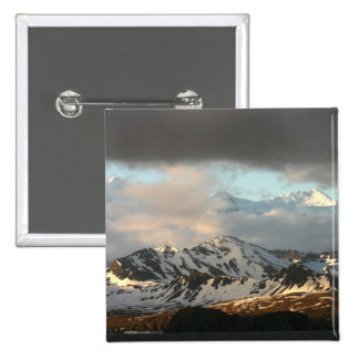 Sunrise over the mountain ranges on South 2 Pinback Button