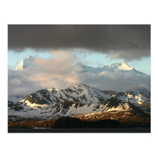 Sunrise over the mountain ranges on South 2 Postcard