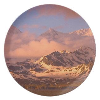 Sunrise over the mountain ranges on South Melamine Plate
