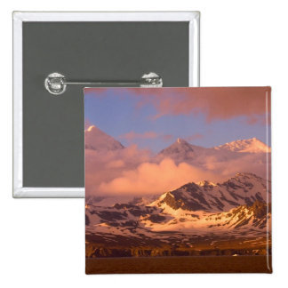 Sunrise over the mountain ranges on South Pinback Button