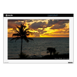 """Sunrise over the Ocean Decal For 17"""" Laptop"""