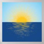 Sunrise over the Ocean New Beginnings Poster
