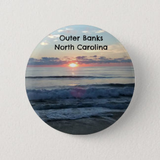 Sunrise over the Outer Banks of North Carolina Pinback Button