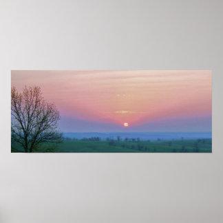 Sunrise over the Ozarks Poster