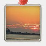 Sunrise over the river ornament