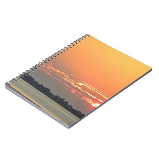 Sunrise over the river spiral notebook