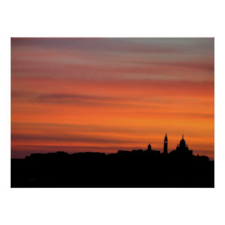 Sunrise Over the Sacre Coeur Poster