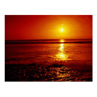 Sunrise over the sea, Filey, North Yorkshire, Engl Postcard