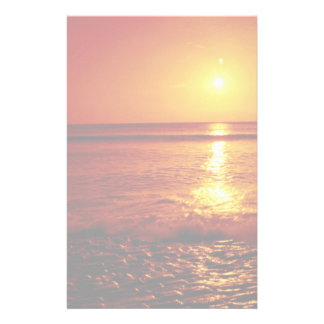 Sunrise over the sea, Filey, North Yorkshire, Engl Stationery Paper