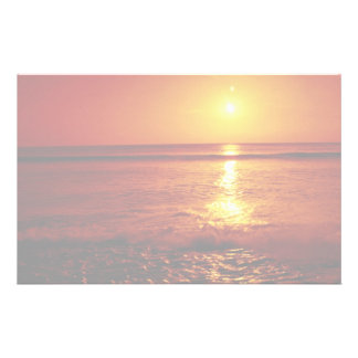 Sunrise over the sea, Filey, North Yorkshire, Engl Stationery Design
