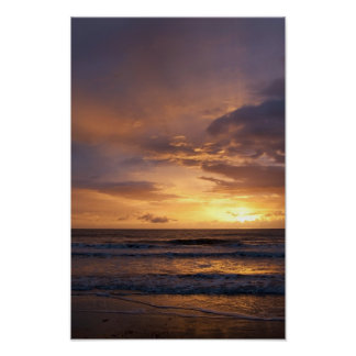 Sunrise over the sea poster