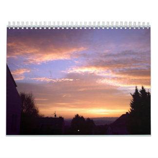Sunrise over the Siebengebirge (calendar side) Calendar