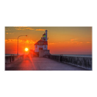 Sunrise over the South Pier Photo Card