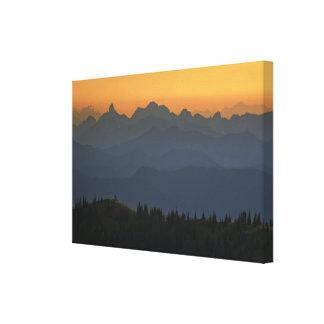 Sunrise over the Washington Cascades - Mt. Rainier Canvas Print