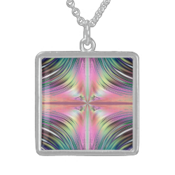 Sunrise over the Waterfalls Fractal Necklaces