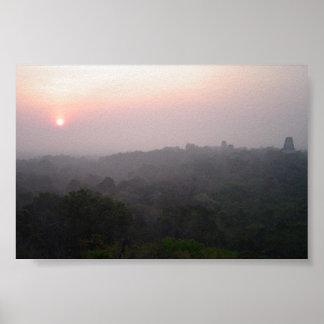 Sunrise over Tikal Poster