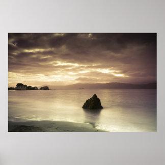 Sunrise over Worser Bay, New Zealand Poster