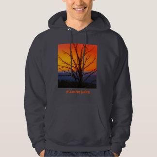 Sunrise Over Yellowstone National Park Design Hoodie