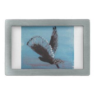 Sunrise Owl Art Belt Buckle