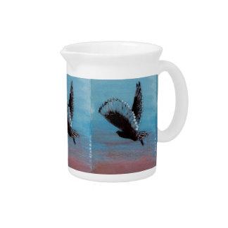 Sunrise Owl Art Drink Pitcher