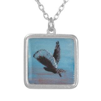 Sunrise Owl Art Pendant