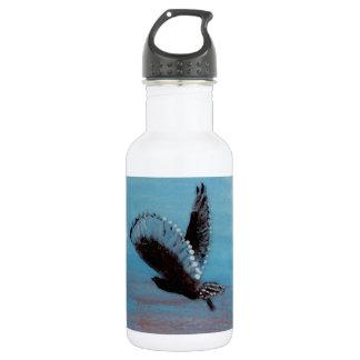Sunrise Owl Art Stainless Steel Water Bottle