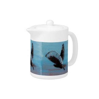 Sunrise Owl Art Teapot