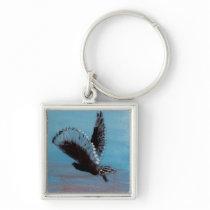 Sunrise Owl Bird Art Keychain