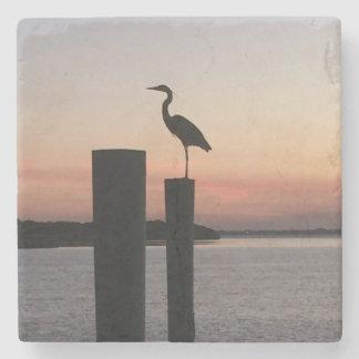 Sunrise Pelican Stone Coaster