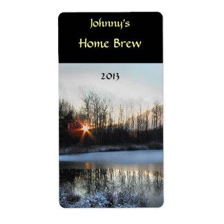 Sunrise Pond Beer Label Shipping Label