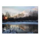 Sunrise Pond in Upstate New York Postcard