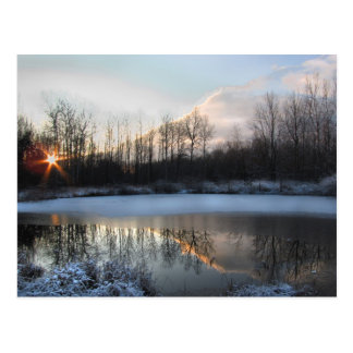 Sunrise Pond in Upstate New York Postcard