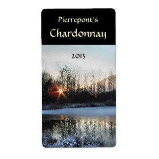 Sunrise Pond Wine Label Shipping Label