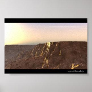 Sunrise - Povray Poster