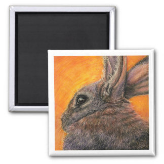 Sunrise Rabbit 2 Inch Square Magnet