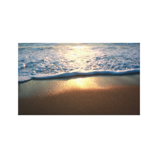 Sunrise Ray Reflection Stretched Canvas Prints