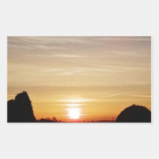 Sunrise Rectangular Sticker