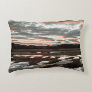 Sunrise reflections at Lago Grey Decorative Pillow