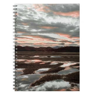 Sunrise reflections at Lago Grey Spiral Notebook