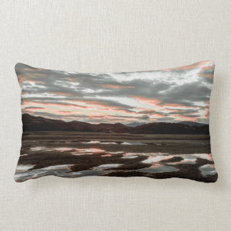Sunrise reflections at Lago Grey Throw Pillow